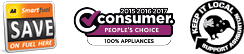 100% Smith & Church: Consumer Magazine People's Choice, AA SmartFuel, Keep It Local