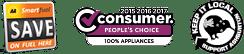 100% Smith & Church: Consumer Magazine People's Choice, AA SmartFuel, Keep It Local